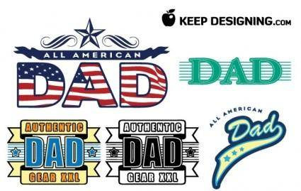 free vector Dad fathers day vectors- free