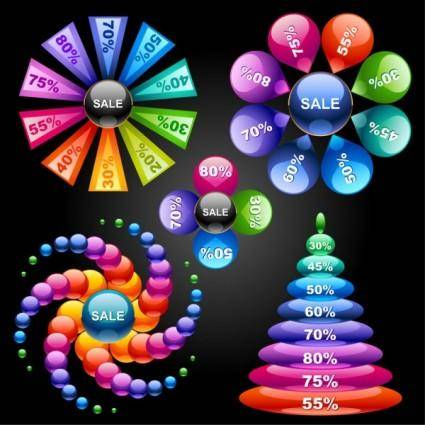 free vector Figure 02 brilliant statistics vector
