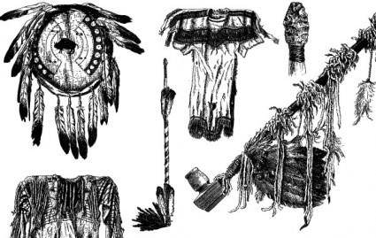 free vector Native American Object Vectors
