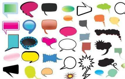 free vector Thought and Speech Bubbles Pack