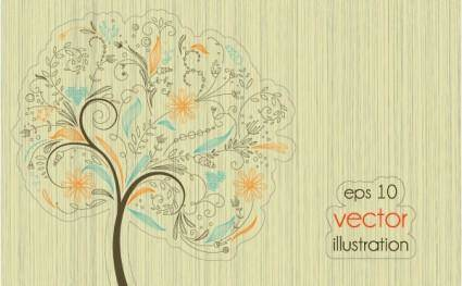 Lines of trees illustrator 01 vector