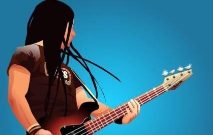 free vector Bassplayer