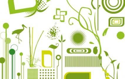 free vector Green objects free vectors
