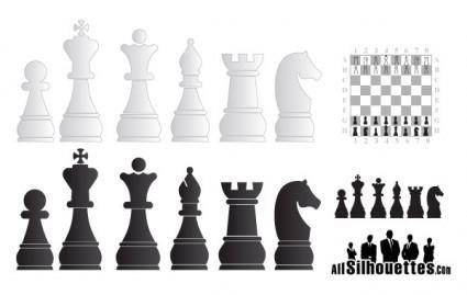 Chess objects free vector