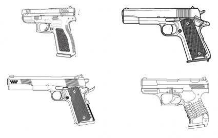 Set of guns