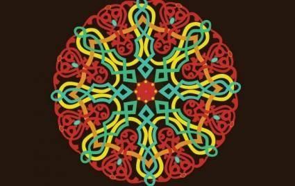free vector Folklore ornament
