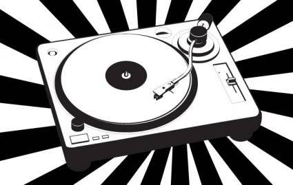 Music turntable vector