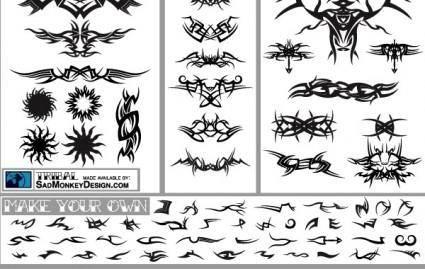 free vector Tribal tatoo set free vectors