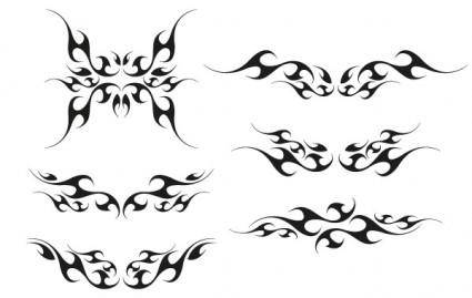 Vector tribal wings