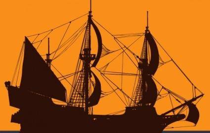free vector Pirate Ship Vector