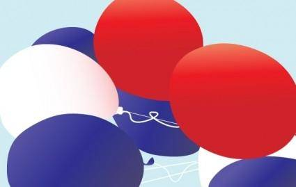 Red, white and blue patriotic balloons vector