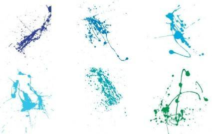 free vector Super colourful splatter free vector