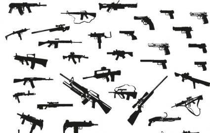 free vector Guns free vector pack
