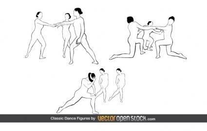 free vector Classic Dance Figures