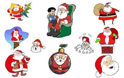 free vector Simple Santa Vector Collection