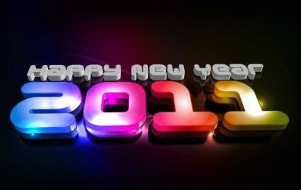 free vector New year 2011