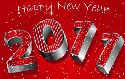Happy new year 3D 2011
