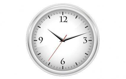 White office clock