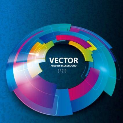 Brilliant technological design 01 vector