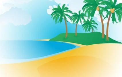 free vector 148-Tropical Beach