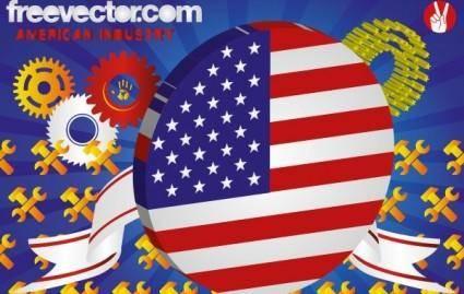 free vector American Industry