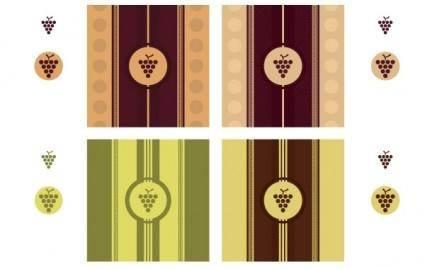 free vector Wine Label