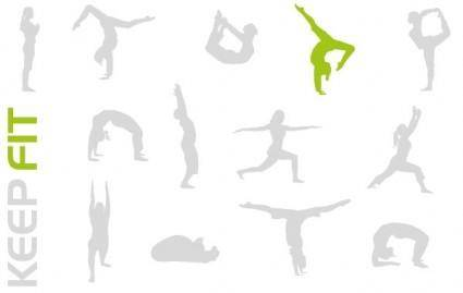 free vector KEEP FIT VECTOR PACK
