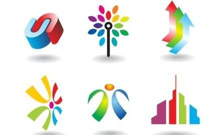 free vector Colorful design elements