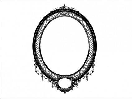 free vector Detailed Decorative Oval Frame