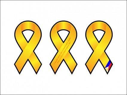 free vector Yellow Ribbons