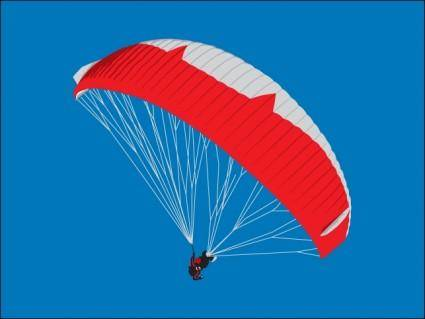 free vector Paraglider
