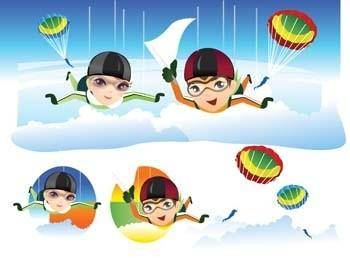 free vector Sky Diving