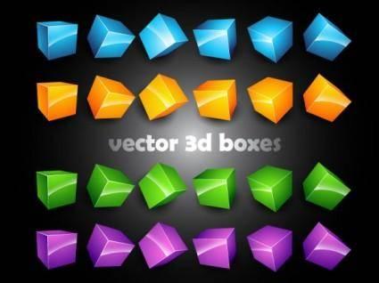 free vector 3d threedimensional box vector