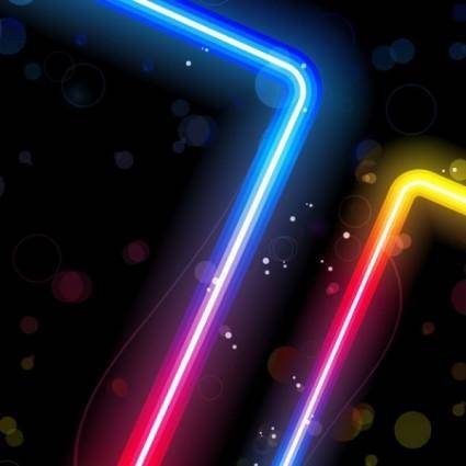 Gorgeous neon effects 02 vector