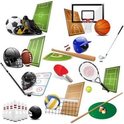 Sports equipment 05 vector