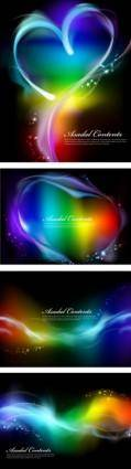 Colorful smoke effects vector