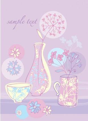 free vector Small pink illustration 03 vector