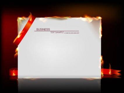 Flame burning paper effect 01 vector
