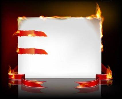 free vector Flame burning paper effect 03 vector