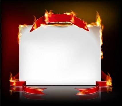 free vector Flame burning paper effect 04 vector