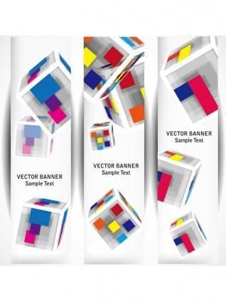 free vector Beautiful long card 04 vector