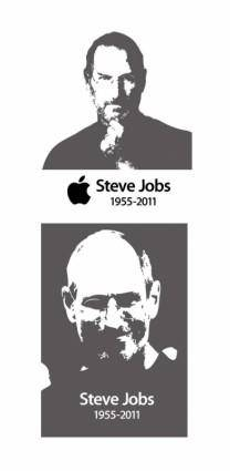 Steve jobs steve jobs black and white vector