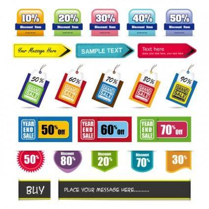 Fashion label 04 vector