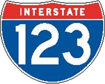 Interstate 123 Sign Board Vector