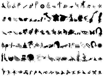 Seven of eight miscellaneous arbitrary design elements vector