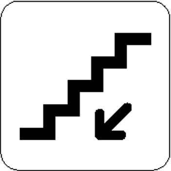 Escalator down Sign Board Vector