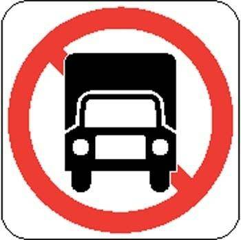 free vector No Truck Sign Board Vector