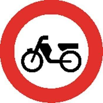 Bike area Sign Board Vector