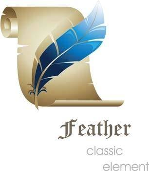 free vector 3d feather classic vector element, 3d vector design illustrator ai, photoshop 3d illustrator ai, classic design illustrator vector