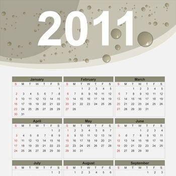 free vector 2011 Free Vector Calendar